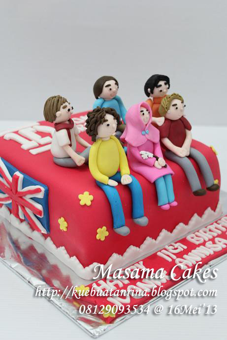 Masama Cakes One Direction 1d Themed Birthday Cake For
