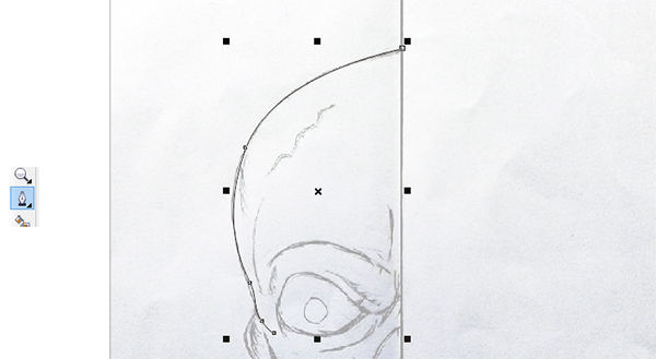 membuat vector tengkorak, belajar coreldraw