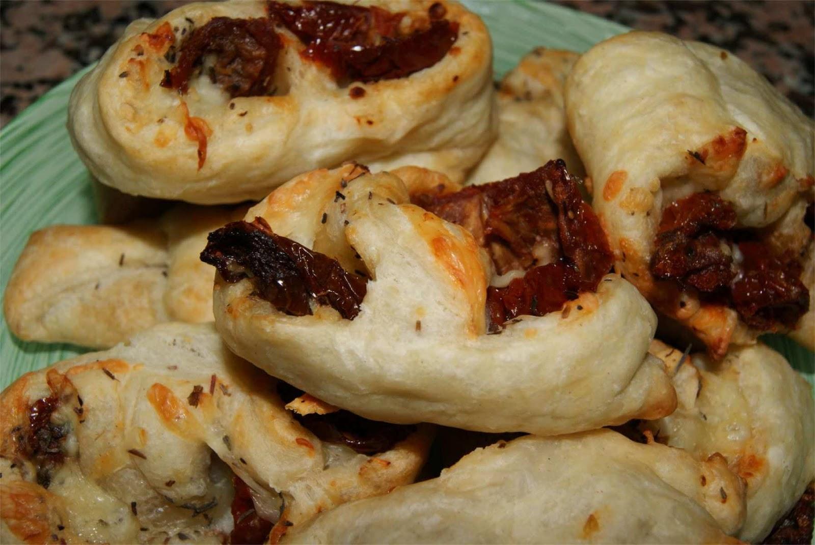 Palmeritas de tomate y queso #Asaltablogs