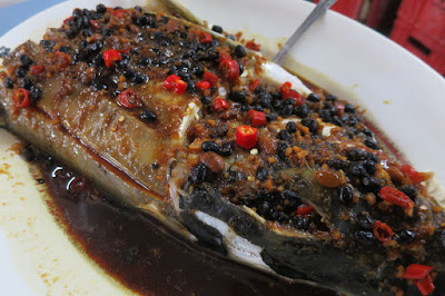 HK Mong Kok Kui Ji Kitchen - steamed fish head black bean sauce