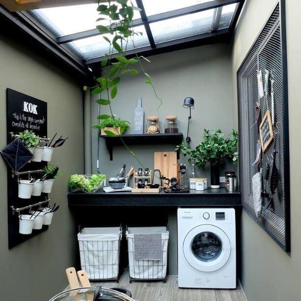 Model Kanopi dapur terbuka Bahan Kaca