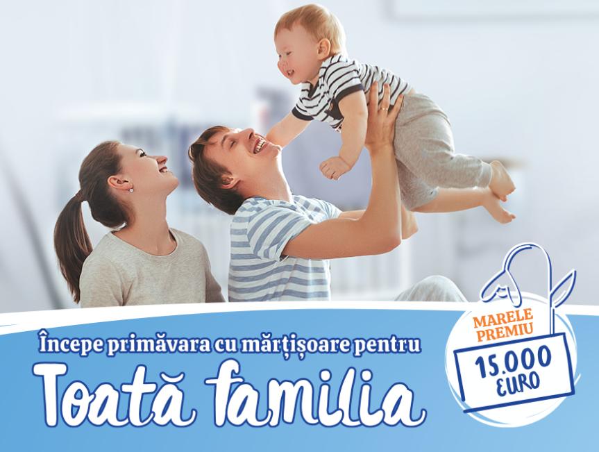 Premii Nestlé Baby & me pentru o primavara infloritoare - Incepe primavara cu martisoare pentru toata familia - Participa la concurs si poti castiga: 60 de premii in bani in valoare de 500 lei fiecare sau marele premiu, 15000 de Euro - castiga.net