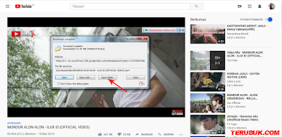 proses download video youtube dengan idm selesai