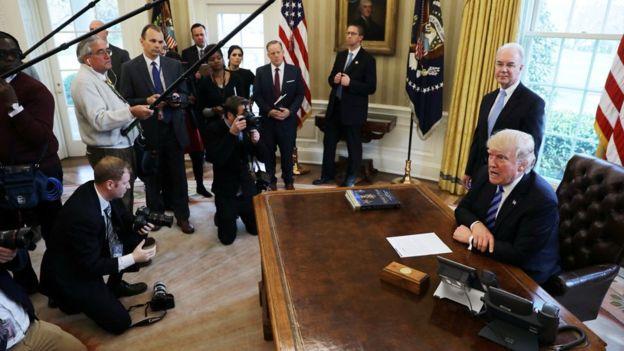 Trump blames Democrats for failed healthcare bill