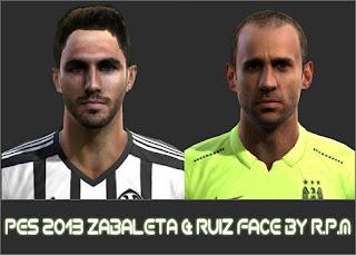 Face Zabaleta & Victor Ruiz 2016 Pes 2013 By R.P.M
