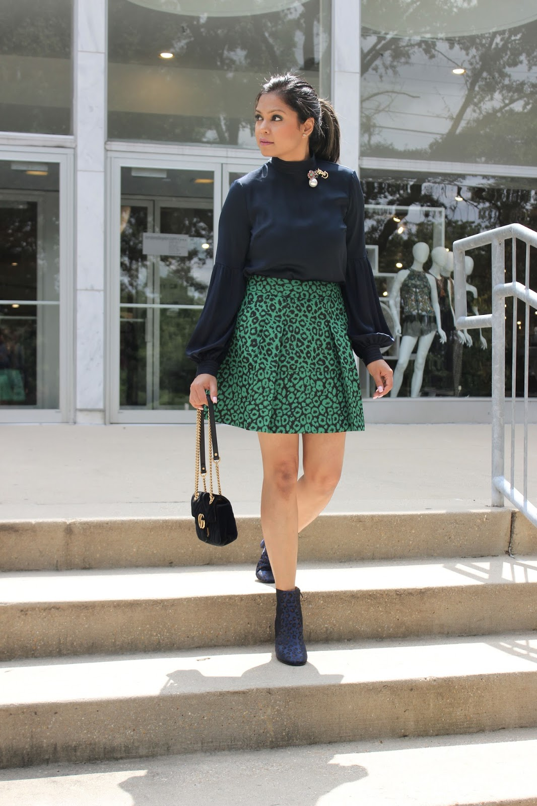 how to wear animal print, leopard on leopard print, fashion, style, trend talk, street style, outfit of the day, sleek , myriad musings, saumya shiohare .