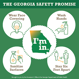Georgia Safety Promise: Wear a Mask, Wash Hands, Sanitize Surfaces, Stay 6 Feet Apart