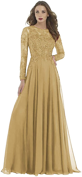 Long old Mother of The Groom Dresses,