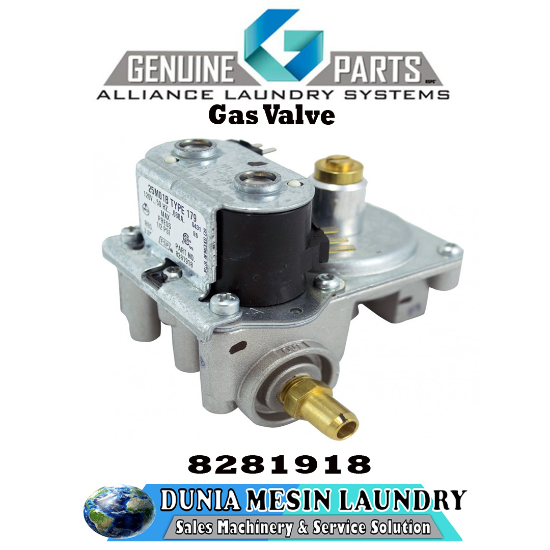 SPARE PARTS WHIRLPOOL, Gas Valve Original Genuine Parts Alliance Laundry System.