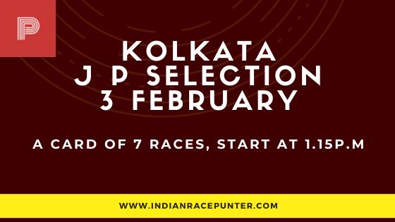 Kolkata Jackpot Selections 3 February