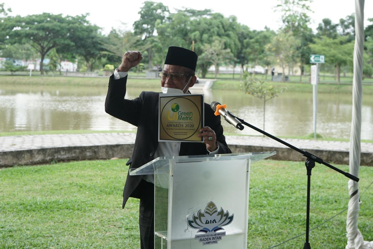 UIN Raden Intan Lampung meraih peringkat 10 besar nasional penilain UI Green Metric