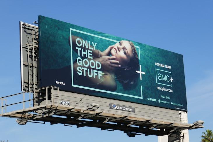 Julia Stiles AMC plus Riviera billboard