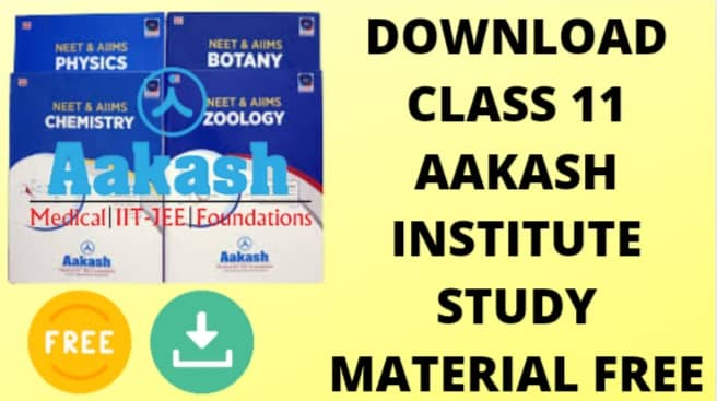 Download Class 11 Aakash Institute Chemistry Study PDF free material