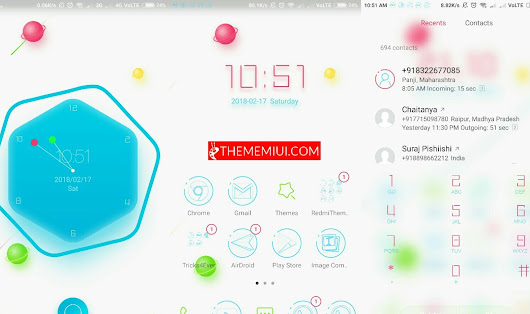 Colorful Meteor micro gravity Theme.mtz for MIUI9/10