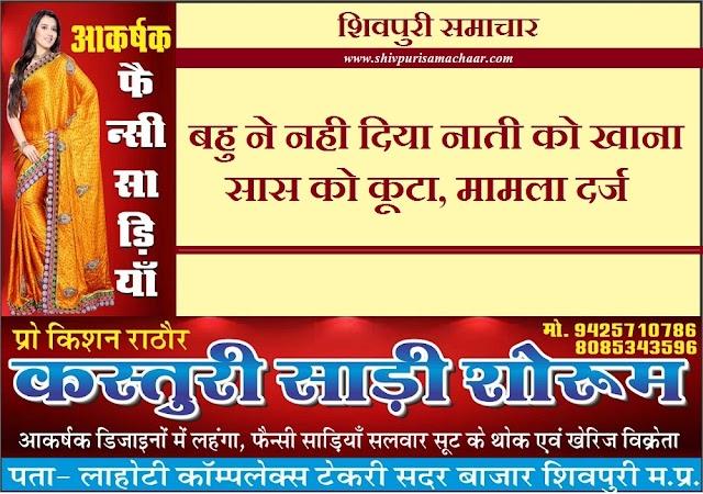 बहु ने नही दिया नाती को खाना, सास को कूटा, मामला दर्ज - Badarwas News