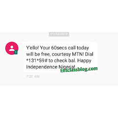Independence Day, MTN Nigeria Is Giving Out Free 60 seconds Talk Time