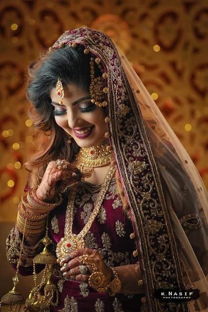 Beautiful Indian Bridal Makeup Look Wallpaper