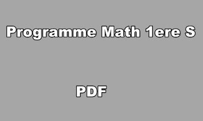 Programme Math Premiere S PDF