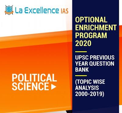 Political Science Question Bank 2000-2019 La Excellence PDF Download