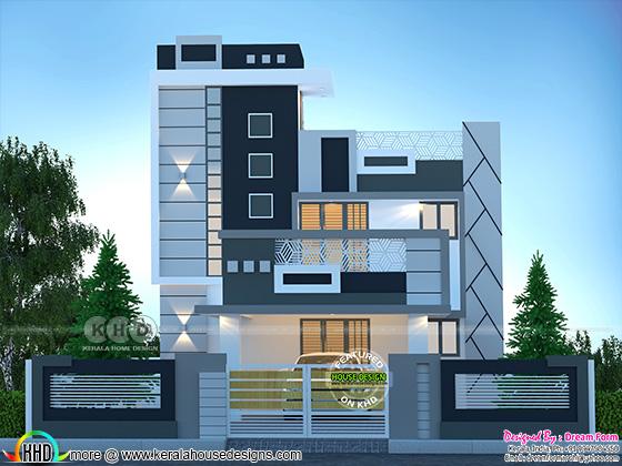 duplex modern style home design