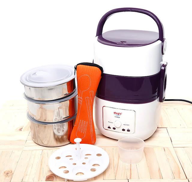 Đánh giá hộp nấu và hâm nóng cơm Magic A06