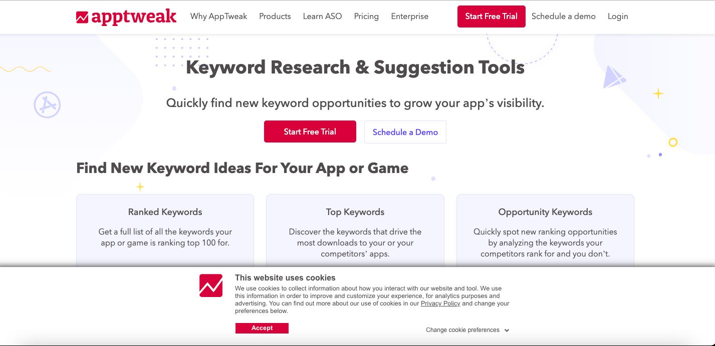 apptweak keyword tool