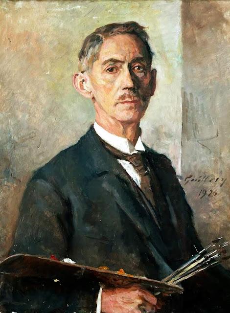 Franz Paul Guillery, Self Portrait, Portraits of Painters, Fine arts, Paul Guillery, Portraits of painters blog, Paintings of  Franz Paul Guillery, Painter  Franz Paul Guillery