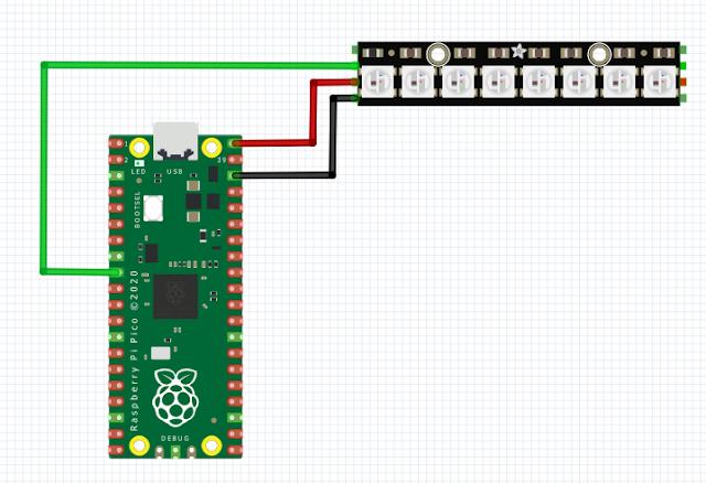 WS2812 Neopixel LED with Raspberry Pi Pico