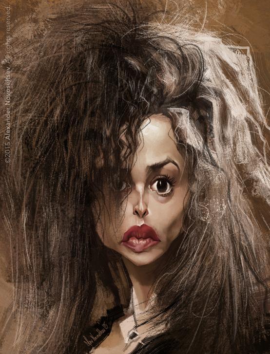 Helena Bonham Carter por Alexander Novoseltsev