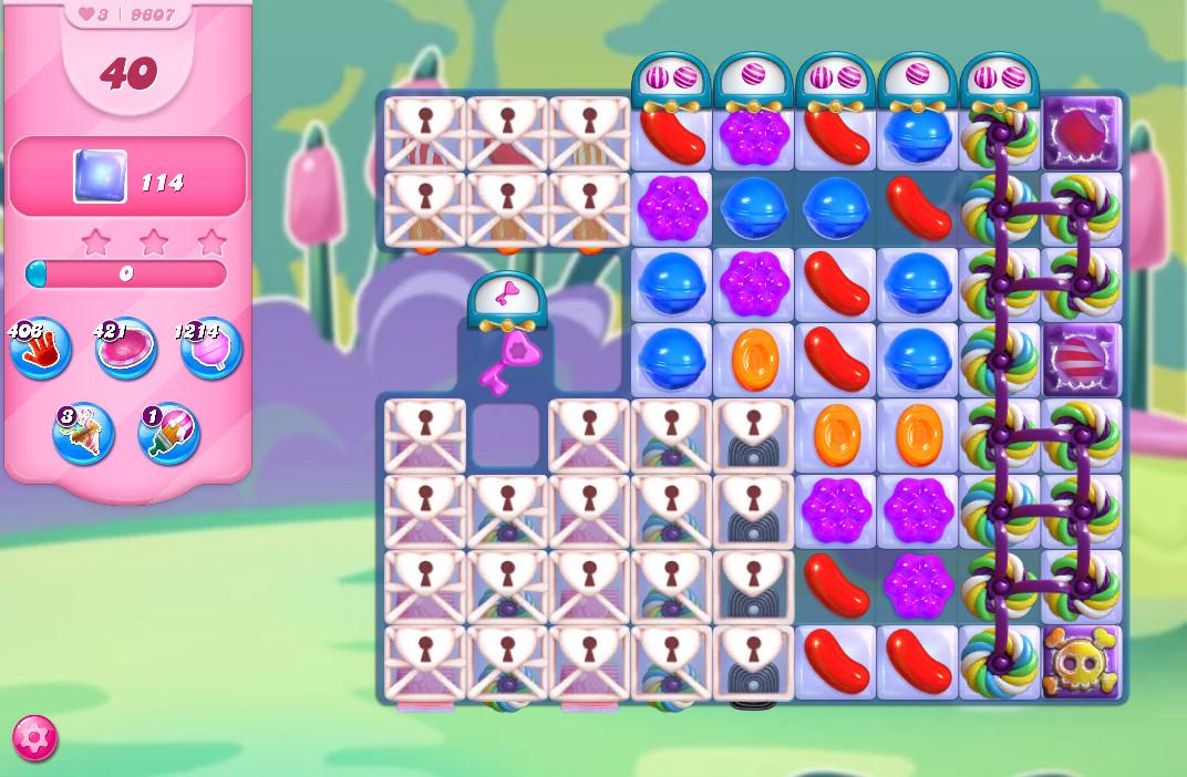 Candy Crush Saga level 9607