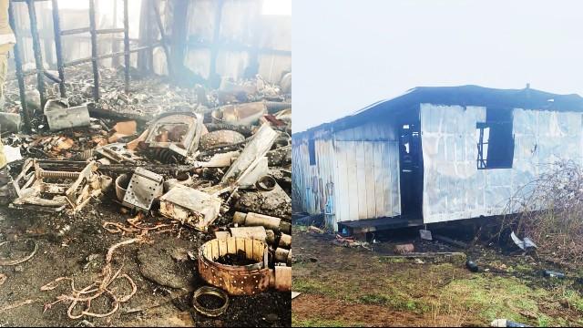 Fuego destruye bodega en la comuna de Río Negro