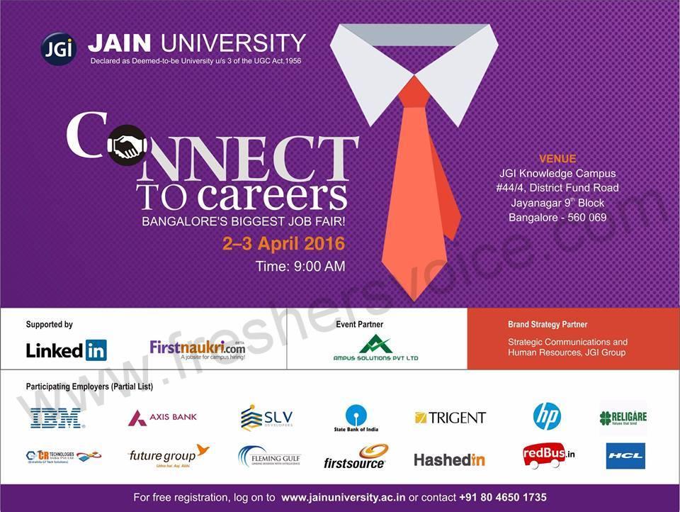 Jain univ job fair