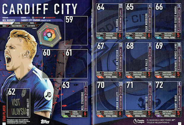 Merlin Premier League 2019-Sol Bamba Cardiff City Nº 64