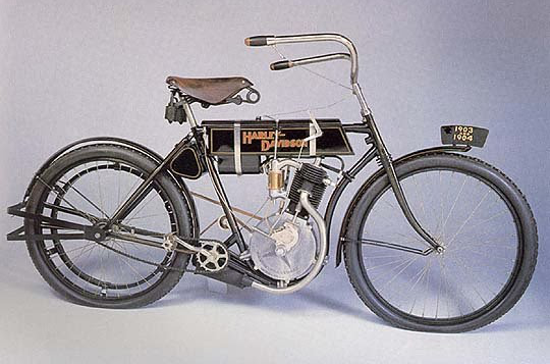 First Versions: Harley-Davidson: 1st model ever