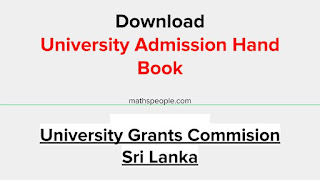 Download University Admissions Hand Book 2020/2021
