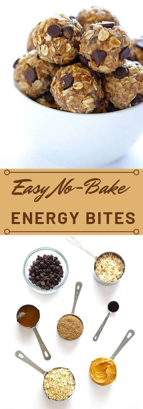 NO-BAKE ENERGY BITES #desserts #cakes #coookies #nobake #meals