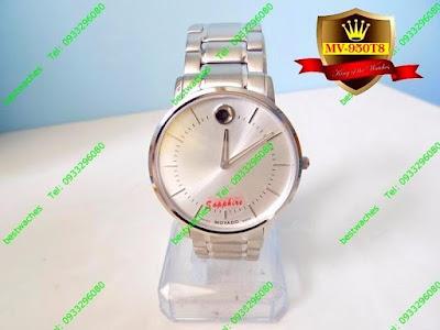 Đồng hồ nam dây inox trắng MV 950T8