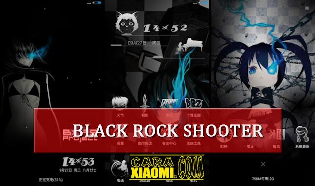Tema MIUI Anime Black Rock Shooter Mtz For Xiaomi