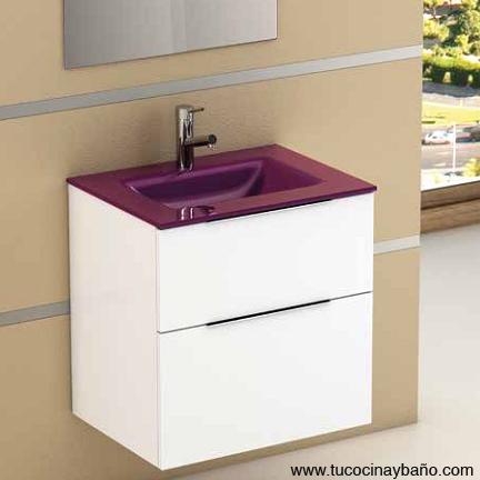 lavabo cristal berenjena 40 reducido