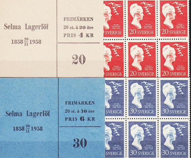 Sweden Both Booklets 100th Birthday Author Selma Lagerlöf