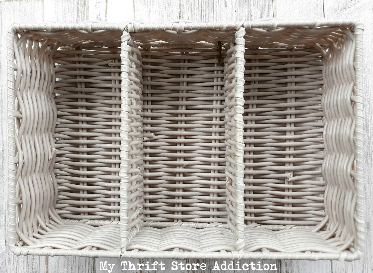 upcycled floral swag basket