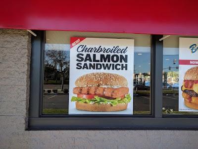 Carl 39 s jr tests new charbroiled salmon sandwich brand for Carl s jr fish sandwich