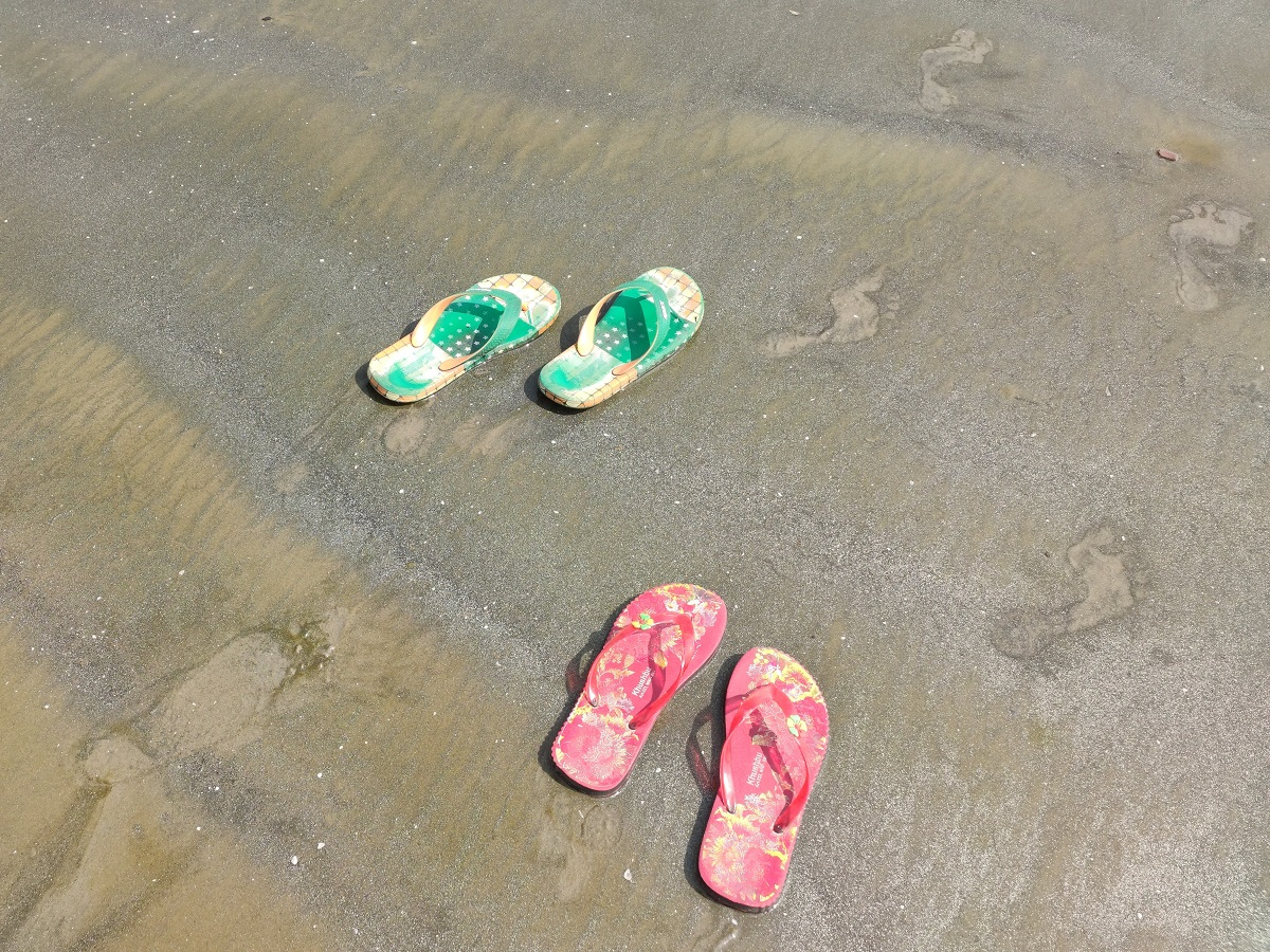 Don't forget to get your own flip-flops.
