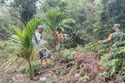 Babinsa Patroli Dan Sosialisasi Cegah Karhutlah Di Desa Beringin Sanggul