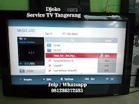 service tv samsung sharp polytron panasonic coocaa toshiba tangerang
