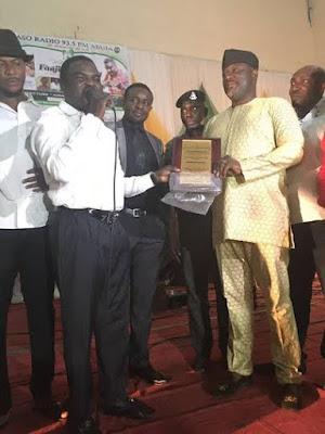 Senator Dino Melaye bag Legislator of the Year Award at Aso Radio