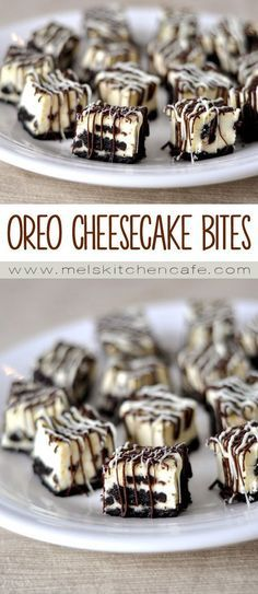 These Oreo cheesecake bites are cheesecake and Oreo bliss in bite-size form. Drizzled in white and dark chocolate, they are heavenly!