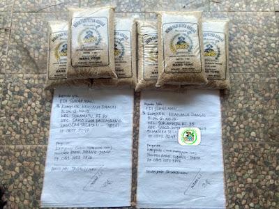 Benih padi yang dibeli   EDI SUHARMAN Palembang, Sumsel.   (Sebelum packing karung).