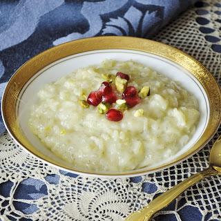 Coconut Milk and Saffron Rice Pudding