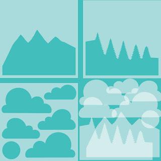 MOUNTAIN Z-FOLD STENCILS